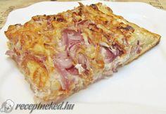 Érdekel a receptje? Kattints a képre! Küldte: Gasztropajti Pizza, Lasagna, Cabbage, Bacon, Vegetables, Cake, Ethnic Recipes, Food, Kuchen