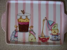 Sueños de tu corazón: Pintura sobre Porcelana Cupcake Cookie Jar, Cookie Jars, Projects To Try, Lunch Box, Baby Shower, Ceramics, Texture, Painting, Kitchen