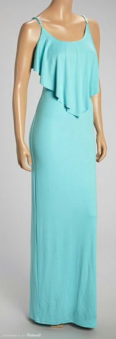 Mint Ruffled Maxi Dress by Rubber Ducky Productions