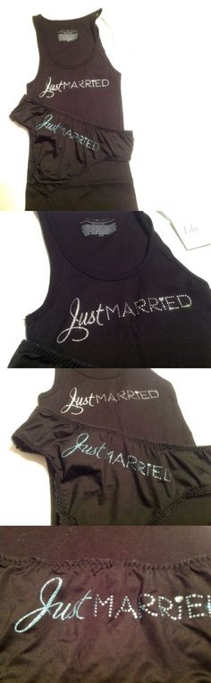 Novelty Attire 175632: Victorias Secret Bridal Black Tank Top W Panty Just Married Bling Small Set -> BUY IT NOW ONLY: $34.99 on eBay!