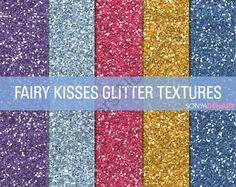 Glitter Digital Paper Textures Fairy Kisses product from SonyaDeHartDesign on TeachersNotebook.com