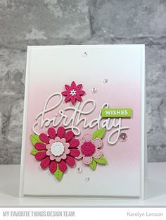Paper Therapy: My Favorite Things - the July Birthday Project Challenge!