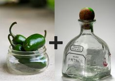 DIY Infused Liquor  $30    Nothing says I Love You like a homemade gift. Nothing says I Love You More like a boozy homemade gift. Take three jalapeno or habanero peppers and cut in half lengthwise. Remove the seeds! Place in a bottle of silver or blanco tequila for three days. DIY gift time.