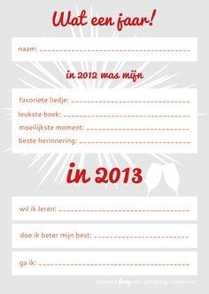 Goede voornemens voor 2013, samen invullen met je klas?