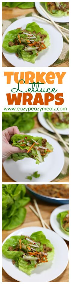 Fresh, tasty, healthy, and full of flavor. These lettuce wraps use ground turkey and are EASY to make, plus they come together in just 20 Minutes! Totally amazing. - Eazy Peazy Mealz