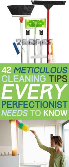 42 Seriously useful tips every clean freak needs to know. Here you find some great tips for deep cleaning your stuff. Household Cleaning Tips, Deep Cleaning Tips, House Cleaning Tips, Natural Cleaning Products, Cleaning Solutions, Cleaning Hacks, Diy Hacks, Clean House Tips, Deep Clean House