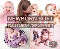 Newborn Mobile and Desktop Lightroom Presets, 12 Bright and Airy Newborn Presets Family Album, Retro Look, Maternity Session, Skin So Soft, Newborn Photos, Lightroom Presets, Retro Fashion, Photo Editing, Desktop