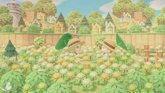 Animal Crossing Guide, Outside Decorations, White Lilies, Island, Gaming, Painting, Green, Design, Antigua