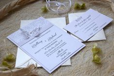 Elegant Invitation Butterfly Wedding Invitation by PaperStudioByC