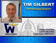 Tim Gilbert - Technology Expert at Weber Chevrolet at I-270 and Olive in Creve Coeur - Your St Louis Chevy Dealer