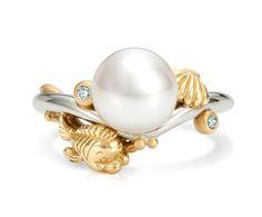 Little Mermaid pearl ring <3