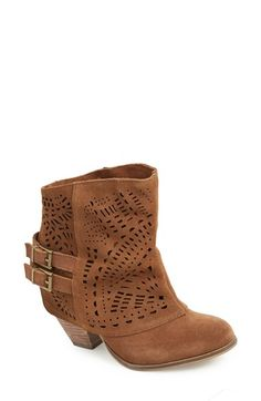 Free shipping and returns on Naughty Monkey 'Love Story' Cutout Bootie (Women) at Nordstrom.com. A laser-cut overlay takes its inspiration from chaps and adds a rustic, Western look to this stacked-heel bootie.