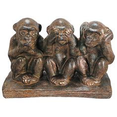 Hear No, Speak No, See No Evil Monkeys made by Import Collection .