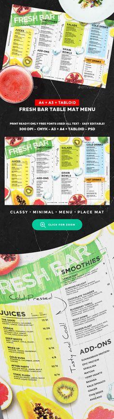 Juice Drinks Menu — Photoshop PSD #watermelon • Download ➝ https://graphicriver.net/item/juice-drinks-menu/20250323?ref=pxcr