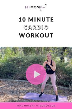 10 Minute Cardio Workout | No equipment video #cardioworkout #womensworkout #workoutvideos 10 Minute Cardio Workout, Cardio Workouts, Short Workouts, At Home Workouts, Fitness Tips, Fitness Motivation, Workout Videos, Workout Tips, Natural Remedies For Migraines