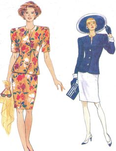 90s Very Easy Very Vogue Sewing Pattern 8261 Womens por CloesCloset