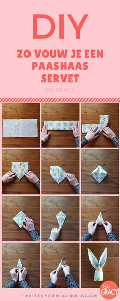 #DIY Zo vouw je een paashaas servet! Leuk idee voor #Pasen