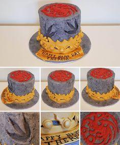 Homemade - Game Of Thrones birthday cake.
