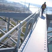 Cable Fall Arrest custom fall protection on bridges