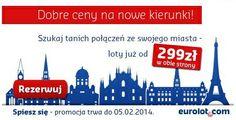 29 stycznia Eurolot rozpoczął sprzedaż biletów w niezwykle atrakcyjnych cenach. Zarezerwuj lot do 5 lutego i leć do Brukseli, Zurychu, Mediolanu czy Amsterdamu za jedyne 399 PLN. Szczegóły na www.whynotfly.pl Poland, Amsterdam, Canada, Ignition Coil