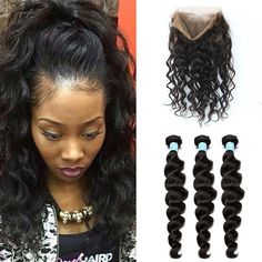 360 Lace Frontal With Bundle Pre Plucked Loose Wave 360 Lace Frontal Closure With Bundles Peruvian Virgin Hair With Closure