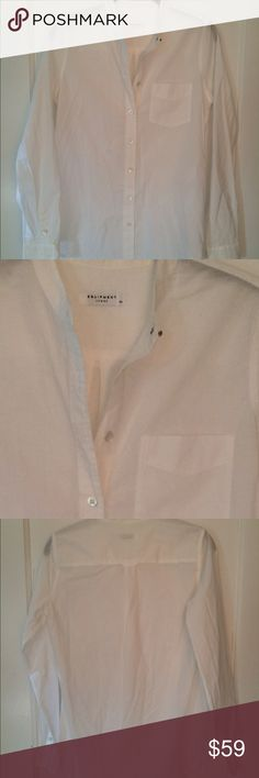 EQUIPMENT FEMME BLOUSE Maybe worn once. Very narrow cut. Silver button at top Equipment Tops Button Down Shirts