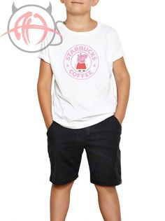 5b4cb57fa37c Starbuck X Peppa Pig Parody Youth T Shirt   15.00  Tee  Hype  Outfits