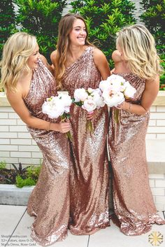 Revelry - Starla Sequin Bridesmaid Dress, $175.00 Revelry - Starla Sequin Bridesmaid Dress, $175.00 Revelry has affordable, trendy, and designer quality bridesmaid dresses and separates. Everything is available in endless colors and sizes 0-32! Try before you buy and order a Revelry Sample Box! Dress is pictured in rose gold. Other sequin colors available include gold, rose gold, navy, maroon and more!(http://wedding.shoprevelry.com/Revelry-sequin-bridesmaid-dress-starla-maxi-dress/)