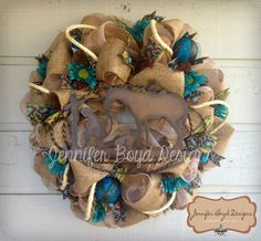 Rustic, Western Wreath in Turquoise, Green, Tan and Burlap, rope and Praying Cowboy and Horse. Burlap Cross Wreath, Sunflower Burlap Wreaths, Western Wreaths, Western Decor, Western Cowboy, Country Wreaths, Western Christmas Decorations, Cowboy Christmas, Christmas 2014