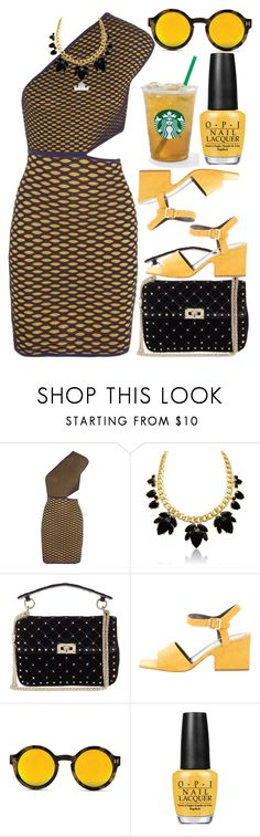 """""""Gossip Is Buzzing"""" by egordon2 ❤ liked on Polyvore featuring M Missoni, Valentino, CÉLINE and OPI"""