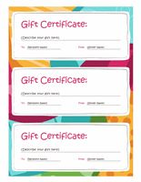 Birthday Gift Certificate Template Free Printables Pinterest - Design a gift certificate template free