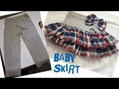How to make beautiful baby skirt from old baby leggings Baby Girl Skirts, Baby Skirt, Baby Dresses, Ruffle Skirt, Sewing Baby Clothes, Baby Sewing, Diy Tops, Romper Pattern, Jogging