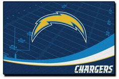 San Diego Chargers NFL Extra Point Rug