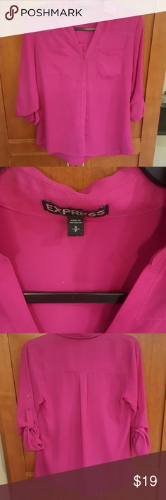 Express Portofino Shirt. Magenta Pink Sz S Great deep Magenta Pink color.  Portofino shirt in excellent condition Express Tops Blouses