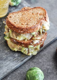 Balsamic Brussels Sprouts Grilled Cheese.   http://howsweeteats.com