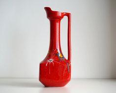 Grande vaso modernista italiano vintage ceramica di RosaGeranio
