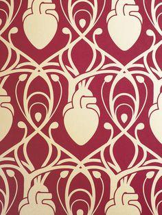 Image of Cardiac Wallpaper via Morbid Anatomy Museum, NYC