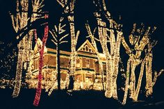 Queen Anne Victorian Mansion Christmas Lights