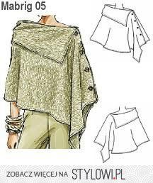 great poncho - no pattern but I think it would be easy to figure out Diy Clothing, Sewing Clothes, Clothing Patterns, Dress Patterns, Sewing Patterns, Knitting Patterns, Diy Vetement, Creation Couture, Sewing Hacks