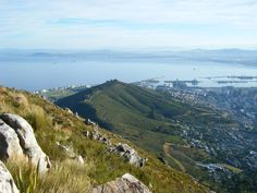 View of Signal Hill in Cape Town. Picture taken from top of Lion's Head.