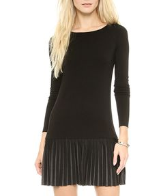 Splice Pleated Dress
