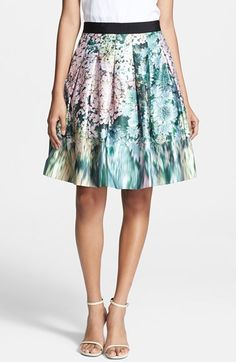Ted Baker London 'Glitch' Floral Print A-Line Skirt #floralstyle #floral #fashion