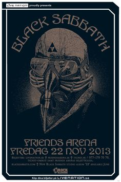 BLACK SABBATH | 22 november | Stockholm, Friends Arena |