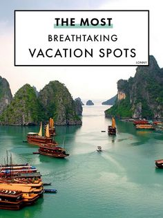 Two days crossing the magical ha long bay in vietnam are not enough the see Vacation Destinations, Dream Vacations, Vacation Spots, Oh The Places You'll Go, Places To Travel, Places To Visit, Photos Voyages, Travel Goals, Ha Long Bay