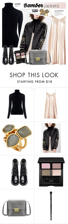 """Bomber jacket - Yoins 5.5"" by cly88 ❤ liked on Polyvore featuring Oliver Peoples, Boohoo, Vince Camuto, SUQQU and INIKA"