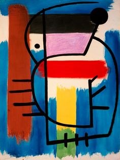 Joan Miró - Seated Woman, 1931, oil on paper, 63 x 46 cm