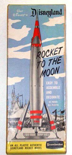 Twa Rocket Model Retro Disney Vintage Disneyland Disney Posters