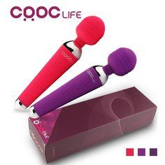 CRDC 강력한 구강 Clit 진동기 15 속도 USB 충전식 AV 마술 지팡이 진동기 마사지 성인 섹스 장난감 여자