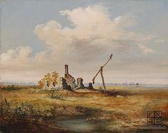 Vojtech Klimkovič: Ruin of a tavern / Zrúcanina čárdy (1850 - 1870)