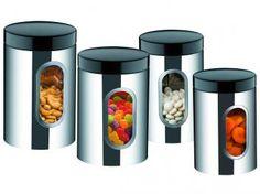 Conjunto de Potes para Doces e Guloseimas Inox - 4 Peças Brinox Suprema 2109/100